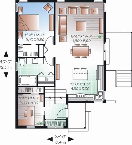denah rumah minimalis 8 x 12 m denah rumah minimalis 10 x 11 m