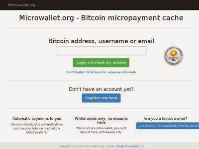 BitCoin Faucet yang menggunakan Microwallet.org ~ DuiTin BitCoin