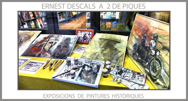 2 DE PIQUES-MANRESA-ART-EXPOSICIÓ-PINTURA-HISTORIA-PINTURES-HISTÒRIQUES-PERSONATGES-ARTISTA-PINTOR-ERNEST DESCALS-