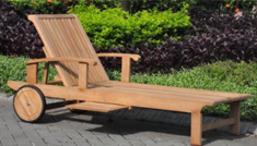 New Grade A Teak Multi Position Sun Chaise Lounger Steamer with Tray