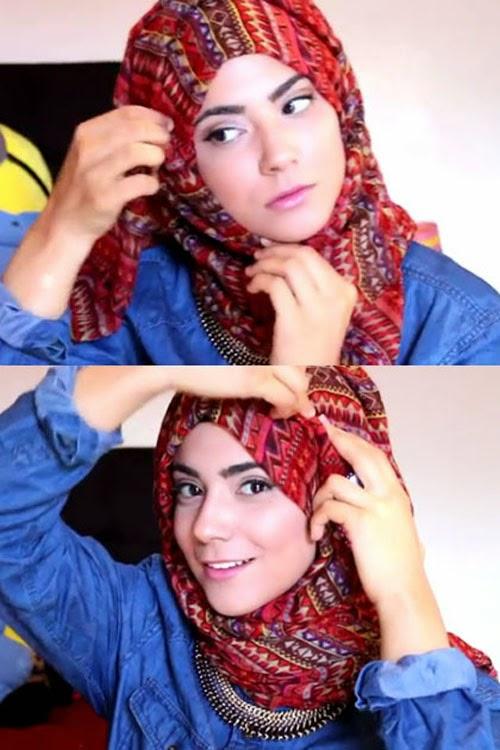 Tips Praktis Hijab Modern Menggunakan Aksesoris Kalung Pendek