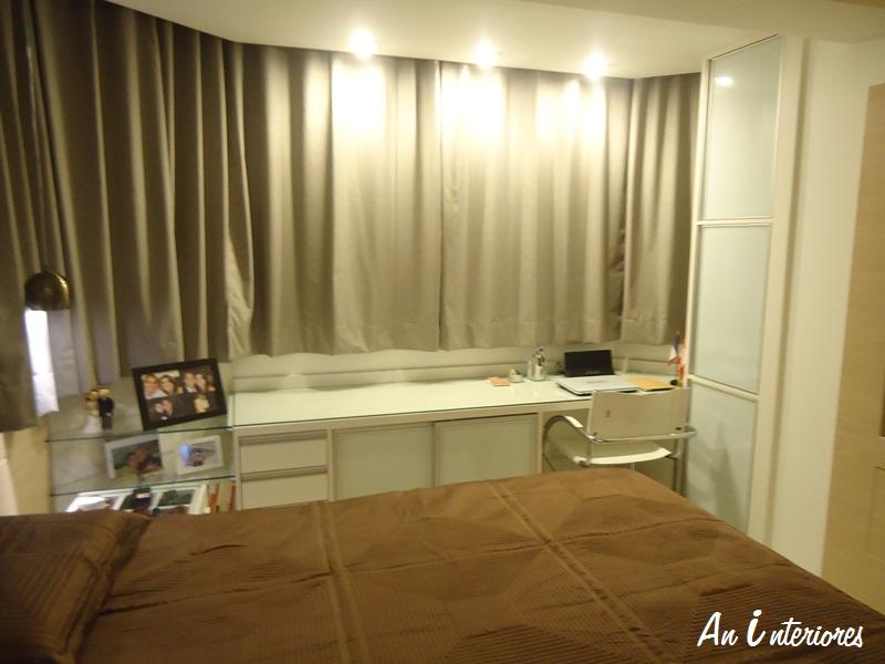 Quarto De Casal Pequeno Com Janela ~ Ainda no quarto do casal, uma bancada em MDF com tampo de vidro