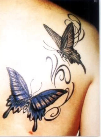 butterfly  back shoulder