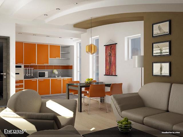 interior penthouse lounge dining kitchen1