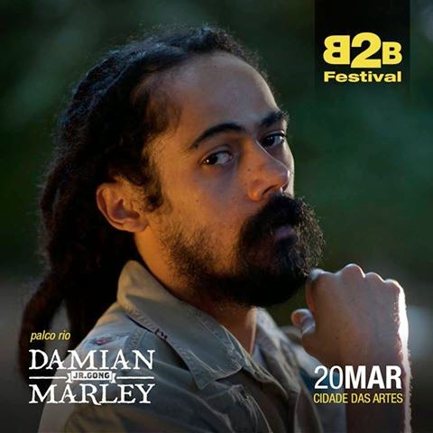 Damian Marley se apresenta no festival Back2Black (Brasil)