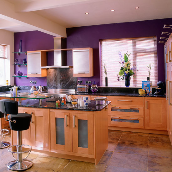 New home interior design how to add glamour to your kitchen for Colour scheme for kitchen walls