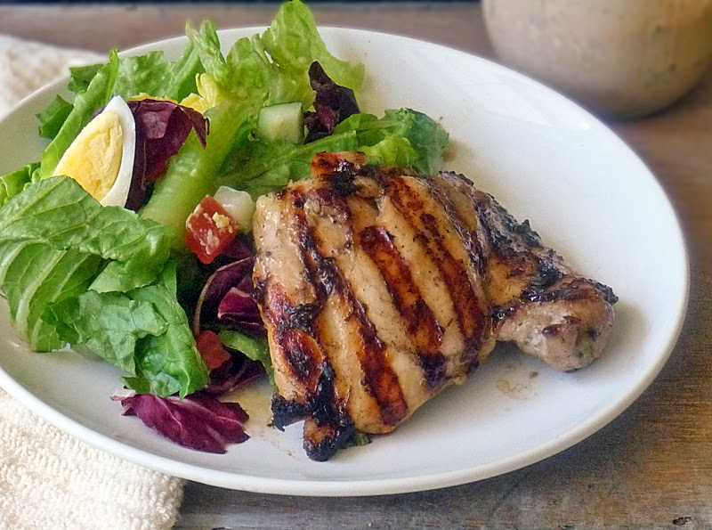 Easy Grilled Chicken Thighs | by Life Tastes Good #grilled #chicken