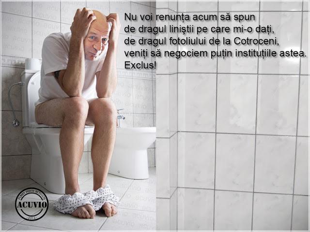 Funny photo Traian Băsescu fotoliu Cotroceni
