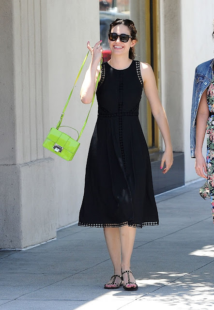 Singer, Actress @ Emmy Rossum Out For Lunch In Pasadena