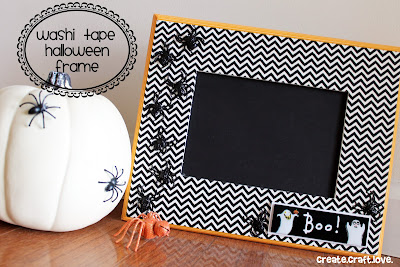 washi tape halloween frame