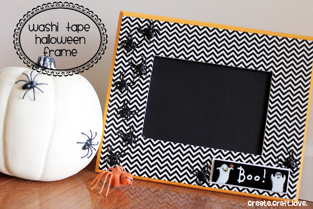 Washi Tape Halloween Frame via createcraftlove.com #washitape #halloween #frames