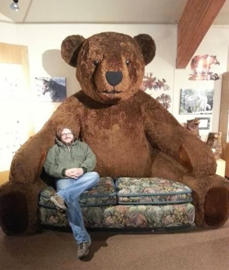 Huge Teddy Bear Couch-Magrush.com