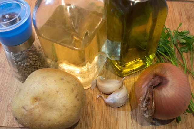ingredientes de patatas panaderas