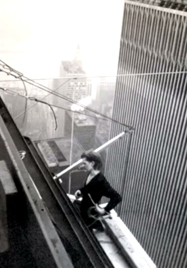 Philippe Petit, Twin Towers, World Trade Center, America, New York, USA, US, 7 August 1974, French, France, Wire, Walk, Man on Wire, Manhattan, Actual, Photos, Images, Video, The Walk, WTC,