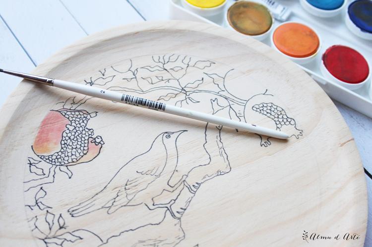 Pintar con témperas y acuarelas sobre tabla