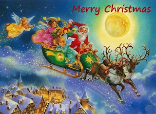 Advance Merry Christmas 2015 Santa Claus Greetings HD Wallpapers