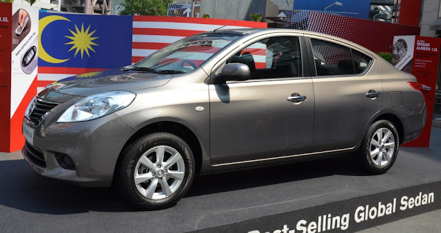 The all new Nissan Almera 2012 during it's announcement event (pic sourced from Paultan.org)