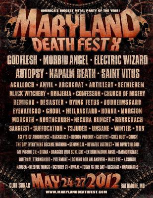 Maryland Deathfest 2012 Flyer (*Updated)