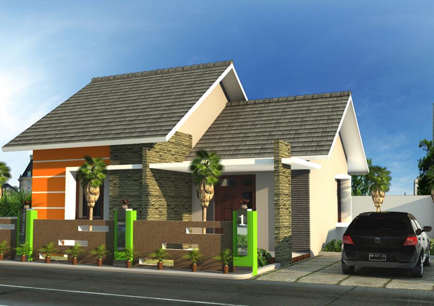 Contoh Desain Rumah Minimalis Type 21 Elegan Terbaru 2015