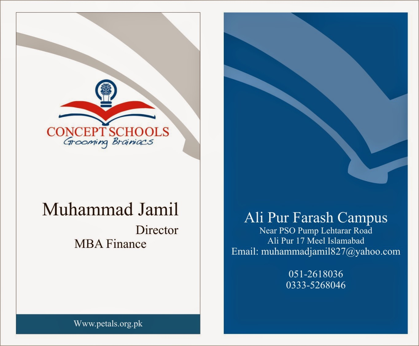 Al-Qazi Printing Press: Visiting Card Apr2015