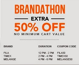 Jabong Brand Offer: Flat 50% Off on Fila Men's Clothing | Upto 40% Off + Extra 50% Off on Melange Women's Clothing | Upto 40% Off + Extra 50% Off on Timex Watches