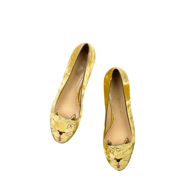 Cheeky Kitty - Charlotte Olympia 'Kitty & Co' Cat Flats Collection