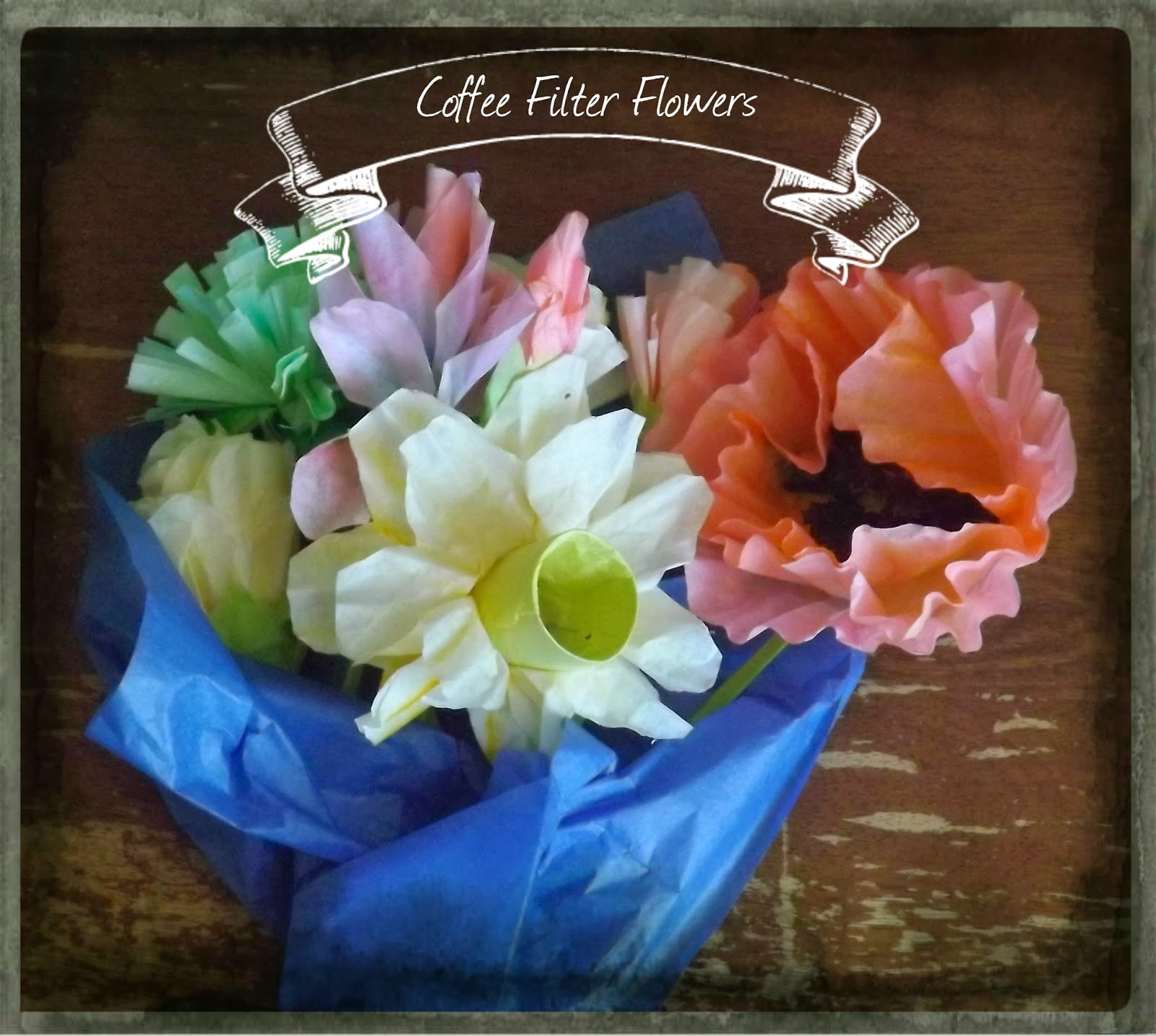 The Middle Aged Woman Who Lived In A Shoe Coffee Filter Flowers