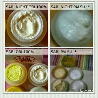 cream sari asli vs cream sari palsu