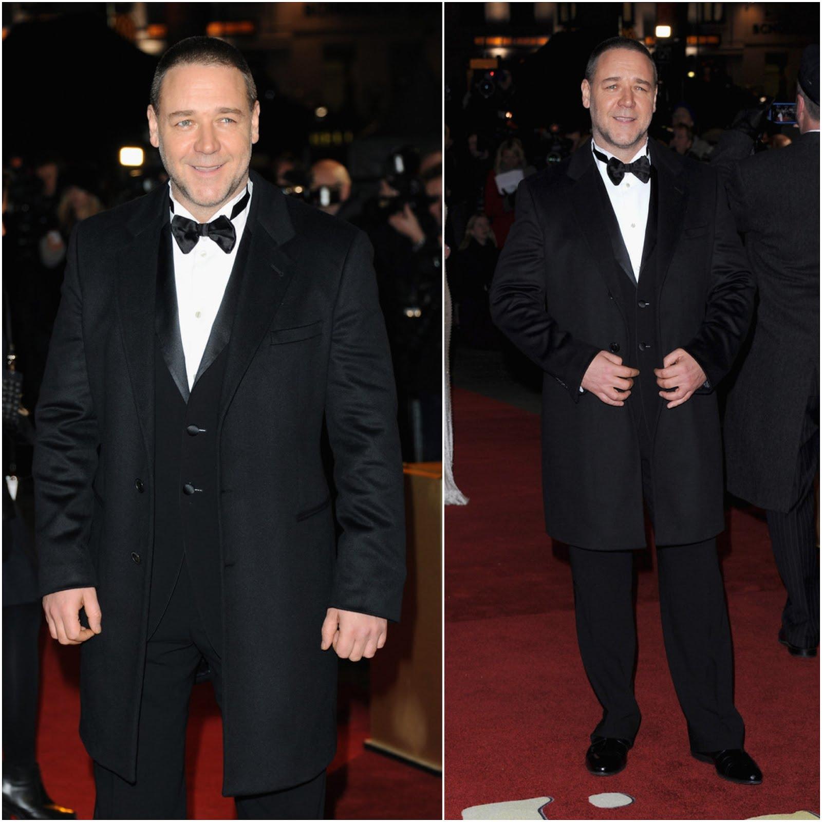 Russell Crowe in Giorgio Armani - Les Miserables World Premiere, London