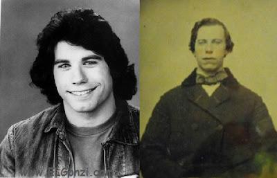 foto antigua de john travolta y su doble del pasado