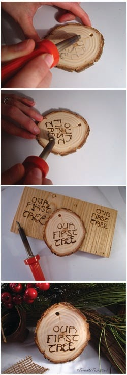 How to Wood Burn a Christmas Tree Ornament