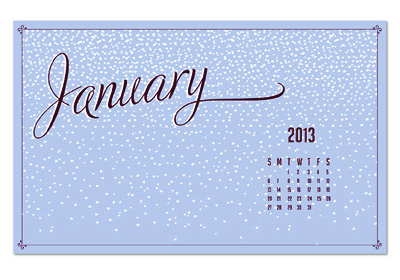 Stampin' Up! January Wallpaper Free Download Graphic