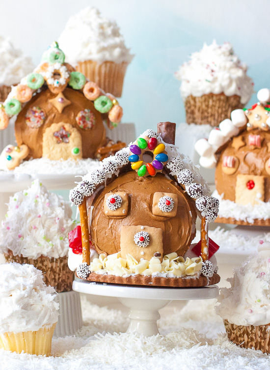 Gingerbread Village Cupcakes