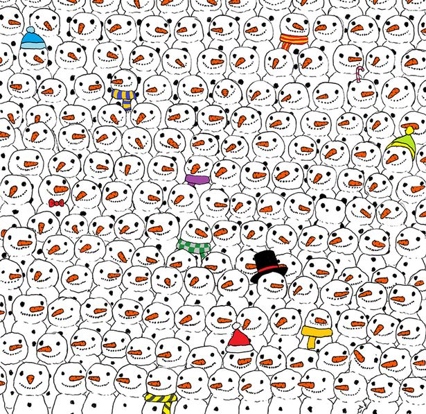 Hungarian artist Gergely Dudas drew a puzzle to celebrate the festive season of Christmas and posted the picture on his Facebook page asking people to find a panda amid snowmen.    It quickly went viral getting 42,000 likes and than 100,000 shares.  It look deceptively simple, enticing viewers to have a go at cracking it. But as people found out around the world, the panda remained elusive.