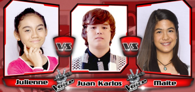 Karlos Won Over Julienne and Maite on The Sing-offs for The Voice Kids Philippines