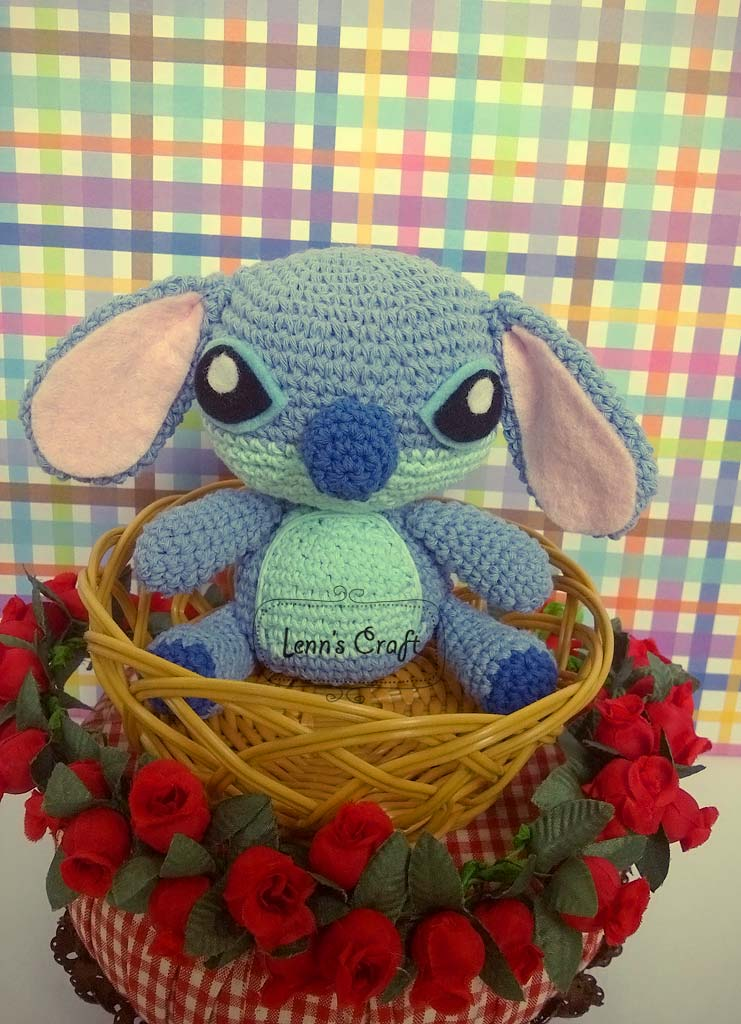 Stitch Amigurumi Doll Pattern : Lenns Craft  Handmade doll Amigurumi  : Stitch Crochet ...