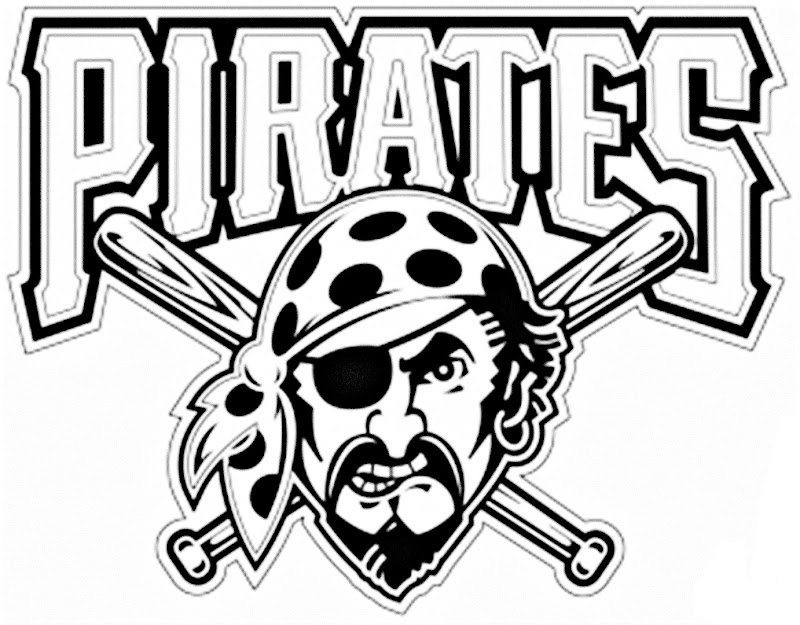 pirates logo baseball coloring pages - photo#4