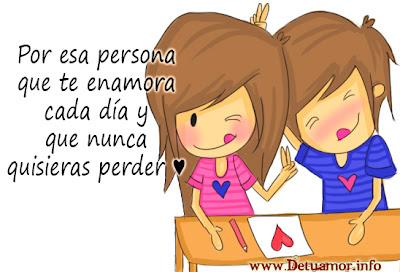 Por esa persona que te enamora cada día y que nunca quisieras perder ♥