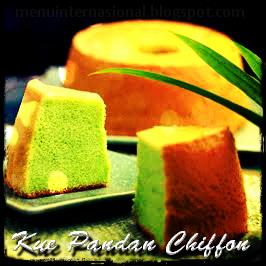 Kue Pandan Chiffon Special