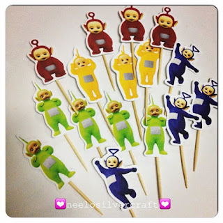 cake topper teletubbies