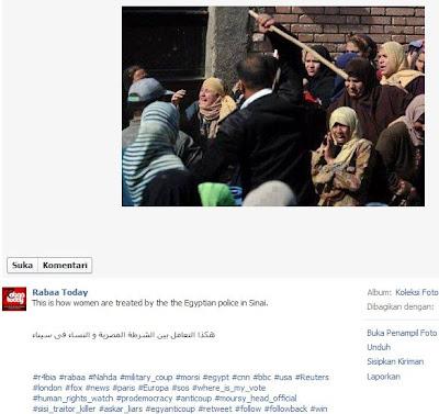 Foto Hoax pro Ikhwanul Muslimin Mohammed Morsi