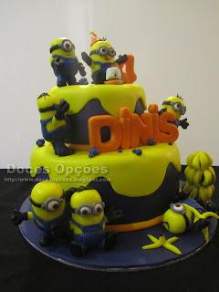 bolo aniversário minions bragança