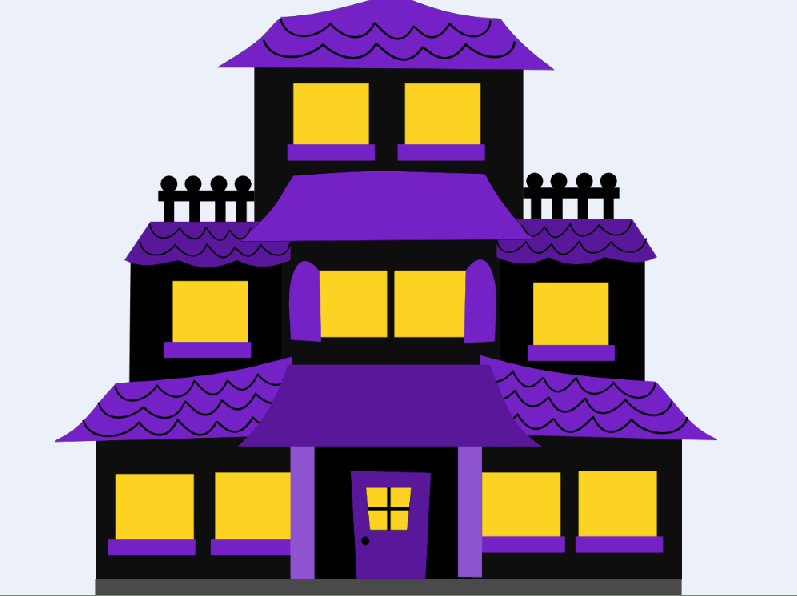 Free Halloween Haunted House Clipart