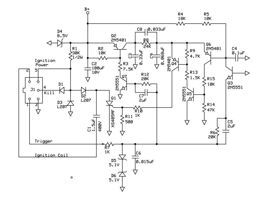 6 pin cdi wire diagram