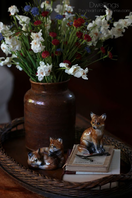 Fall flowers and foxes.