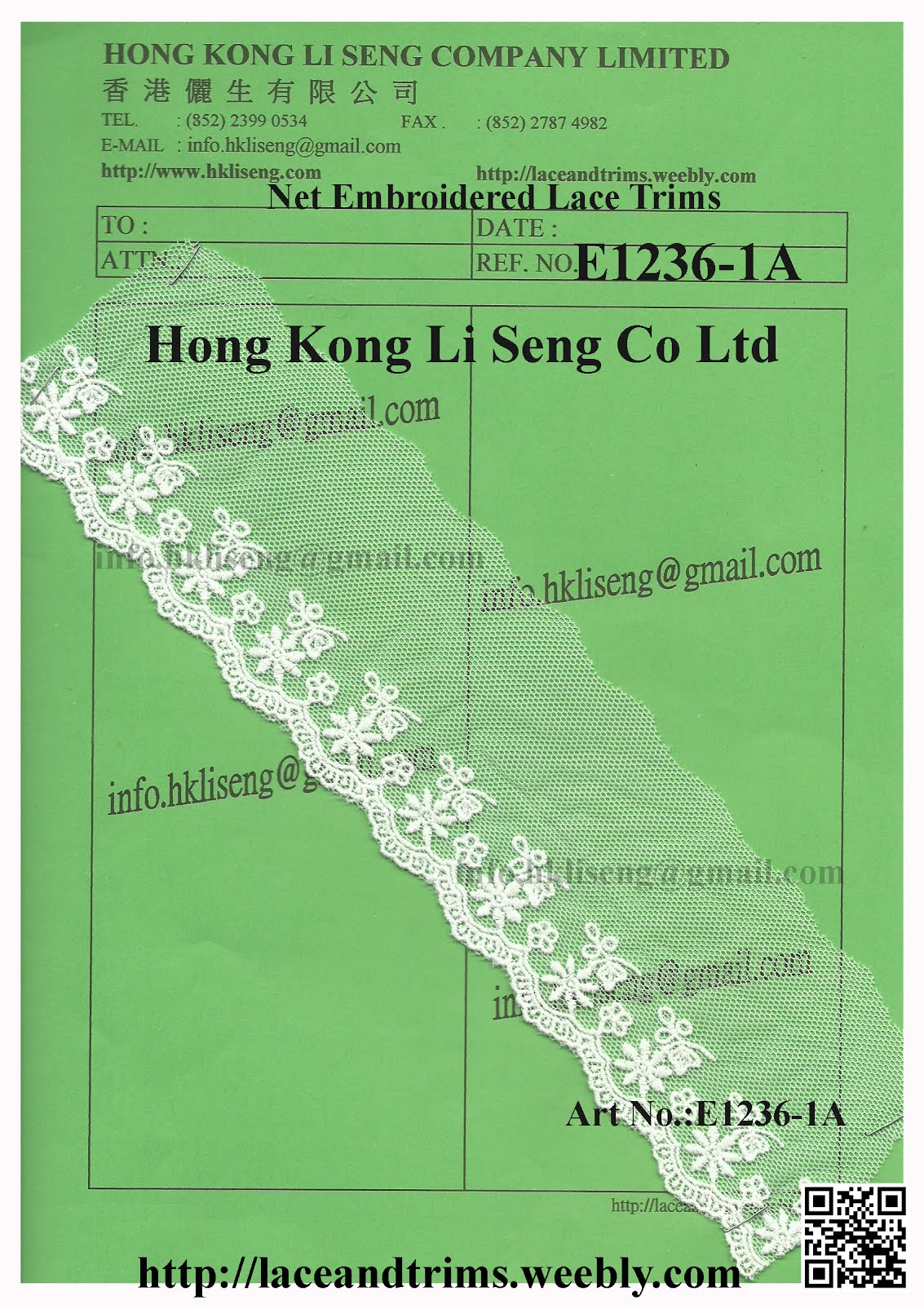 Net Embroidered Lace Trims For All Kind Clothing and Textile Industry