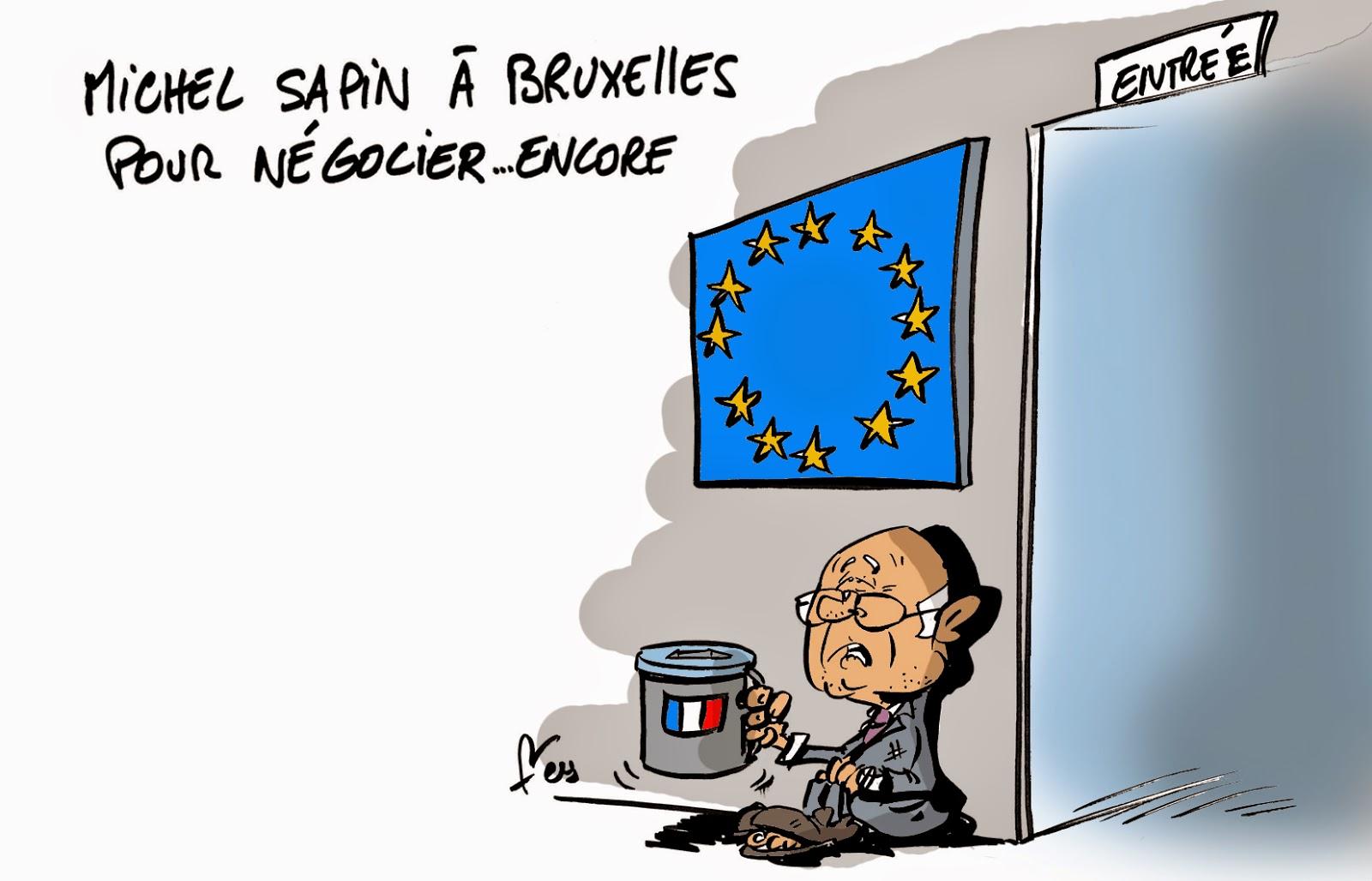 A RIRE OU EN PLEURER OU REVUE DE PRESSE SATIRIQUE - Page 3 SAPIN+UE+NEGOCIER+2014essor