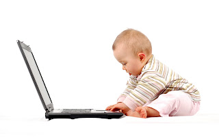 Baby on a computer