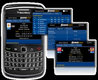 ScoreMobile es una aplicación gratuita desarrollada desde cero para todos los smartphones BlackBerry ®. En ella se ofrecen los resultados deportivos, boxscores, las estadísticas del jugador, cuotas de apuestas, avances de juegos, resúmenes, noticias destacadas y la clasificación de la liga. Además, se publican blogs en vivo exclusivos para los partidos clave. La cobertura incluye: Béisbol (MLB), Fútbol americano (NFL, NCAAF, CFL), Baloncesto (NBA, NCAAB, NCAAWB), Hockey (NHL), Fútbol (EPL / Premier League, Champions League, Serie A, La Liga, la MLS), Golf (PGA ), Auto Racing (NASCAR Sprint Cup, la F1), tenis, cricket (ICC, IPL) y MMA (UFC, Strikeforce). Características:
