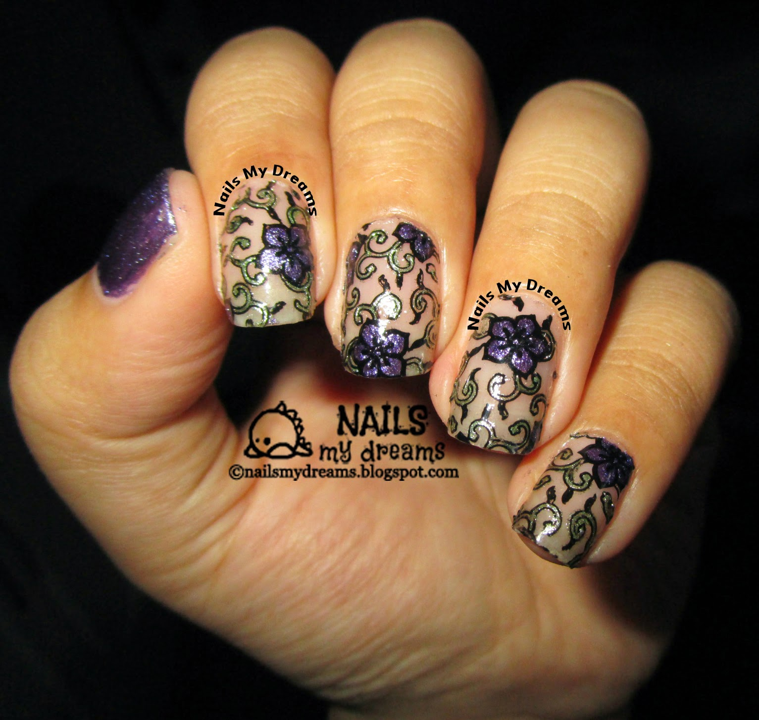 stained glass nails picture 3